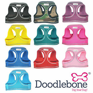 Doodlebone Airmesh Snappy Dog Harness - Easy Fit, soft, Various Sizes / Colours