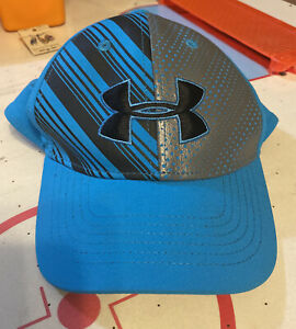 SALE! NEW! Youth UNDER ARMOUR Hat, Neon Blue/Black/Grey, SM/MD