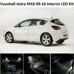 DELUXE VAUXHALL ASTRA J MK6 09-19 INTERIOR LED UPGRADE LIGHT KIT WHITE XENON