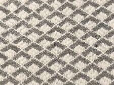Thibaut Art Deco Geometric Chenille Uphol Fabric- Scala / Sterling Grey 1.95 yd