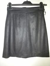 Drykorn Skirt Size 34/26 Black Mini Skirt Leather Look NP 129 NEW