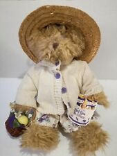 Hat Box Teddy Violet Still Has Tags, With Flowers