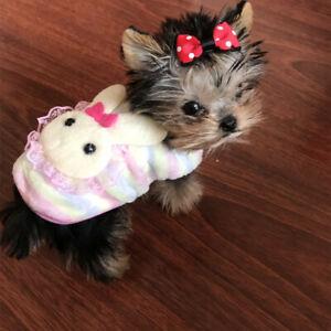 Yorkie PJ's Chihuahua Pajamas Dog Vest Cat Puppy Teacup Pet Clothes XXXS XXS XS