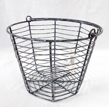 Black White Halloween Metal Spider Web Basket 6 x 8in NIP