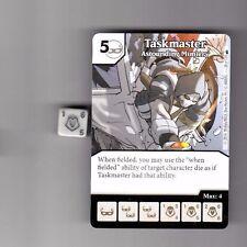 DICE MASTERS DEADPOOL COMMON #38 TASKMASTER ASTOUNDING MIMICRY CARD & DICE