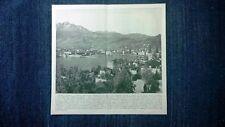 Rara veduta di fine '800: Lucerna, Svizzera + Castello di Heidelberg, Germania