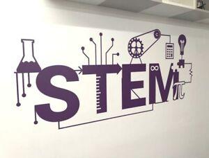 Stem school wall sticker, Science wall stickers