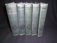DOMBEY & SON BARNABY RUDGE HARD TIMES LIFE OF CHARLES DICKENS 5 VOL CHAPMAN 1880
