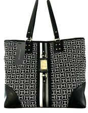 TOMMY HILFIGER Logo Tote Handbag Purse, Black,  NWT $108