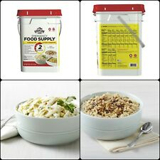 140 Servings Storage Emergency Food Supplies Augason Farms Survival Bucket MREs