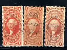 1860's U.S. Postage R6 Stamps 1 Dollar George Washington⭐ Internal Revenue Lot
