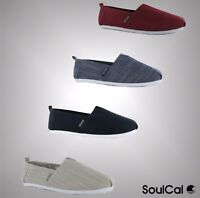 Mens Branded SoulCal Summer Long Beach Canvas Slip Ons Shoes Size 7 8 9 10 11