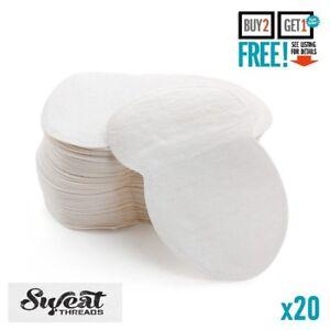 20 Dispo Sweat Pad Antiperspirant Underarm Armpit Guard Sheet Shield Fresh