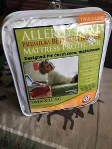 "Mattress Protector Twin X-Long Premium Bed Bug Allergy Luxe Dorm Room 39""x80""x9"""