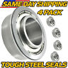 (4 Pack) AM127304, AM118315, AM35443 Front Wheel Bearing fits John Deere UPGRADE