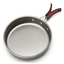 Portable Camping Hiking Frying Pan Outdoor Foldable Handle Picnic BBQ Cookware