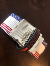 American Flag Red White And Blue Recycled Firehose Belt