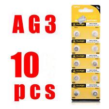 10pcs/lot Button Coin Cell Battery 1.55V G3 AG3 LR41 LR736 V3GA SR41 192 384 392