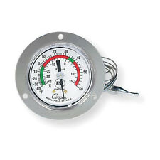 Cooper Refrigerator-Freezer Thermometer, Flange Mount. -40F to 60F