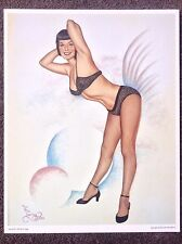 Betty Page PRINT Vintage Pinup Fantasy Art Terry Twigg Erotic Nude Burlesque