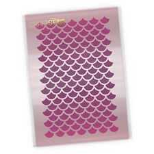 Mermaid Scales Pattern Stencil - Airbrush / Craft Template