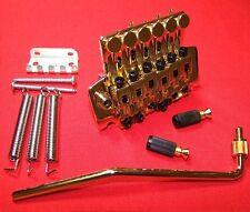 Guitar Parts FLOYD ROSE Locking Tremolo Bridge - LOW PROFILE - GOLD