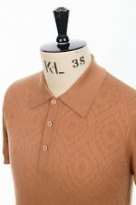 Art Gallery Clothing - Knitted Polo - Coffee S Mod Sixties