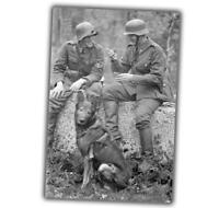 Two German soldiers compare whose pipe long War Photo WW2 4x6 S