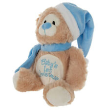Baby's First Christmas Plush Teddy Bear (Blue) - Christmas Gift for Newborn Boy