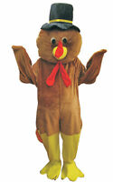 Men's Thanks giving Turkey Mascot Fancy Costume By Dress up America