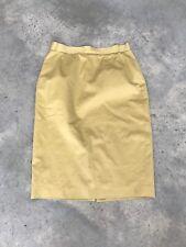 Les Copains Skirt R SZ 46 12 Pencil Silk Blend Yellow Midi Tea Length R
