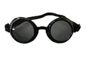 MINI Black Victorian Steampunk Costume Goggles Glasses Welding Cyber Decoration