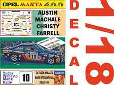 DECAL 1/18 OPEL MANTA 400 A.MACHALE MANX RALLY 1986 6th  (02)