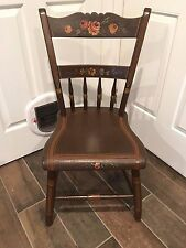 Antique Hitchcock Style Hand Painted Petite Wood Chair  Beautiful