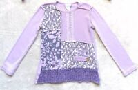Naartjie Sweater, Size 4 Girls, Purple, Floral, Lavender, Plum, Rare & VHTF!