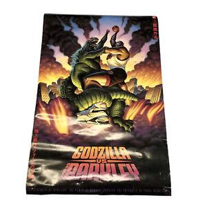 "Vintage 1992 Nike Air Charles Barkley VS GodzillaPoster Full Sized23"" x 35"""