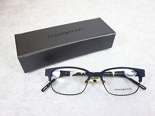 Jhane Barnes Denominator Eyeglass Frames DENOMINATOR NV Dark Matte Navy Rx-able