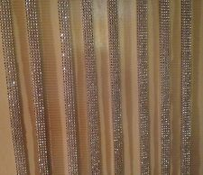 Wedding Cake Decoration Bling Ribbon Sparkle Crystals Rhinestones Silver Trim