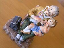 "Vintage Porcelain Geo. Z. Lefton Figurine Doctor Examining Baby Young Boy 6 3/4"""