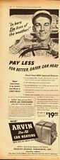 1949 Vintage ad for ARVIN Duo-Flo Car Heaters`Noblitt-Sparks Industries (043014)