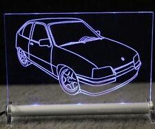 Opel Kadett E Gravur LEUCHTSCHILD LED - GSI