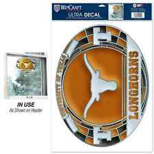 """TEXAS LONGHORNS ULTRA DECAL STAINED GLASS 11""""X17"""" BRAND NEW FREE SHIPPING"""