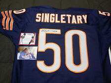 Mike Singletary Chicago Bears Signed Autographed Jersey w/ picture and proof