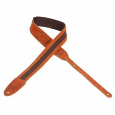 """Levy's - M12SC-CPR - Leathers Guitar Strap 2"""" Cotton Straps with Suede Ends"""