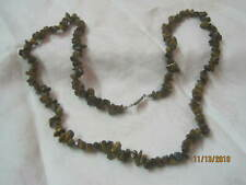 Vintage Tiger Eye chips Stones Necklace (B)