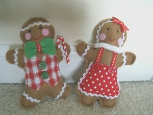 Ashland 2020 Gingerbread Christmas Couple Ornaments;Set of 2.Great for XMAS Tree