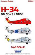 Caracal Decals 1/48 Sikorsky H-34 Choctaw Helicopter U.S.N. & U.S.A.F.