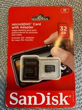 SanDisk MicroSDHC Card With Adapter 32GB SDSDQB-032G-AW46 - NEW