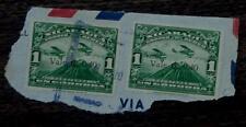 Vintage Set of 2 Used Correo Aereo Nicaragua 1 Uncordoba Stamps, GOOD COND