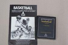"Atari 2600 Vintage video game "" Basketball "" 1978 with intruction manual"